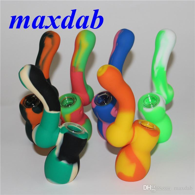 Креативный Дизайн Силиконовые Трубки Для Курения Табака Мини Силиконовые Кальян Бонг Многоцветный Портативный Кальян Трубы