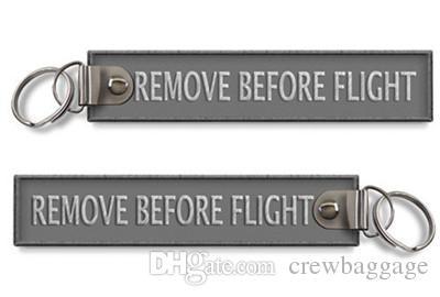 Fácil de Viagem Remover Antes Do Vôo Da Chave Da Cadeia de Bagagem Tag Zíper Puxar Tecidos Bordados Chaveiro Chaveiro 139x31mm muito