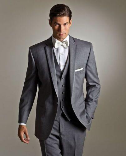 Fashion Lapel Business Men Suits for Wedding Groom Tuxedos Blazers Best Man Bridegroom Wedding Suits Groomsmen Suits Jacket+Pants+Vest+Tie