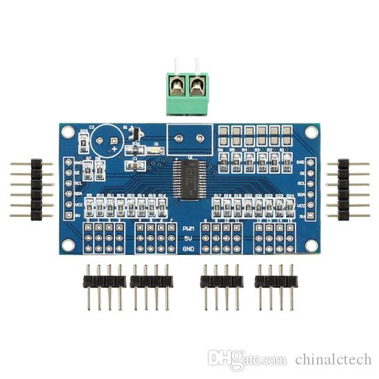 Arduino 16 road PWM/Servo/Steering gear drive plate Controller Robot IIC  PCA9685,Modular,Steering engine