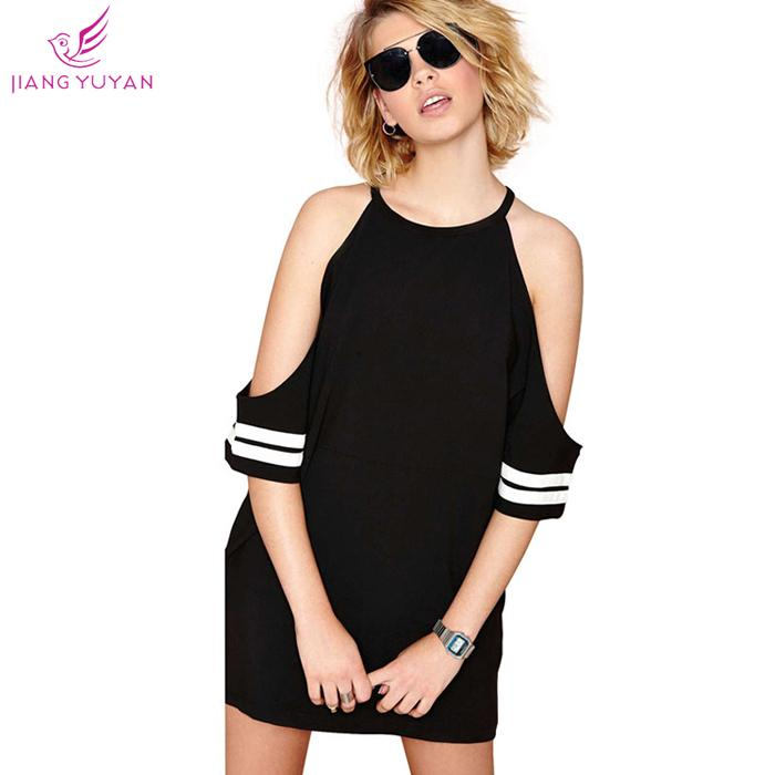 Summer 2015 New Fashion Casual Dress Halter Keyhole Black Sexy Party