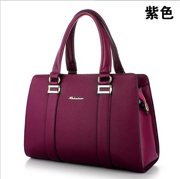 Incroyable European 2016 New Fashion Women Handbags Real Leather Causal Office Lady  Use Fashion Candy Color Women Shoulder Bags Black Totes For Lady Ladies  Purse ...