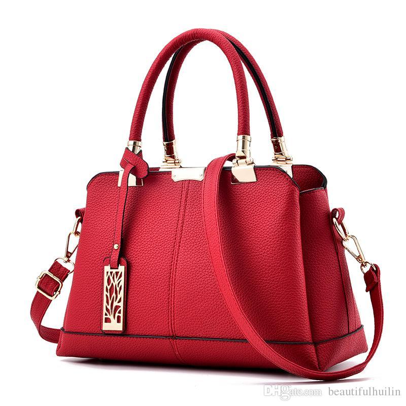 8843c2030e ... Leder Handtaschen Klassische Hohe Qualität Umhängetaschen Weibliche  Tragbare Einkaufstasche Sac Von Beautifulhuilin