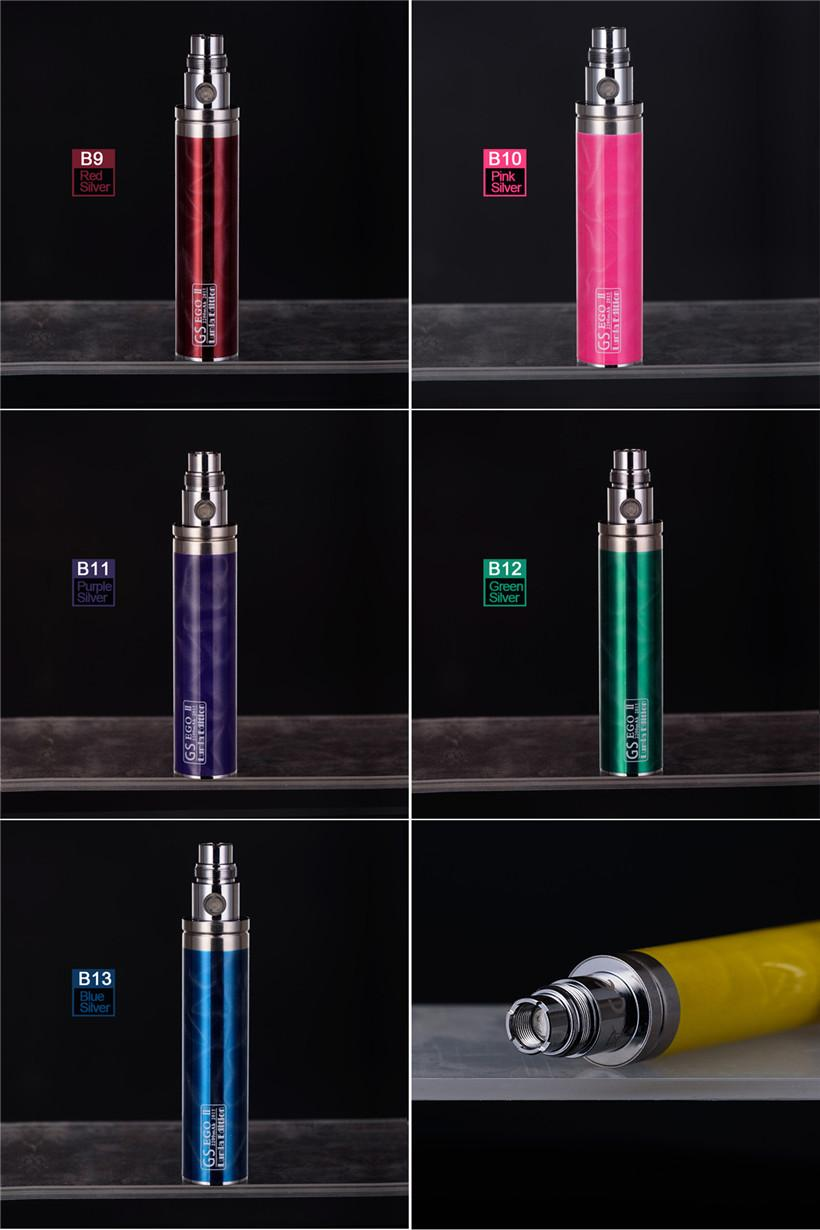 GS EGO II 2200MAH E сигаретная батарея Lumia Edition 3D рисунок красочные 2200 мАч эго т аккумуляторы Vaporizer Pen Fit 510 резьбовые распылители