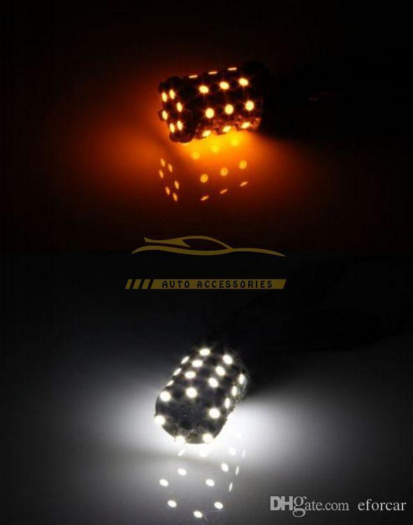 مصباح توقف السيارة أبيض / كهرماني أصفر أبيض 60-SMD LED لمبات الإضاءة الخلفية للإشارات 3157 3155 3156 3757