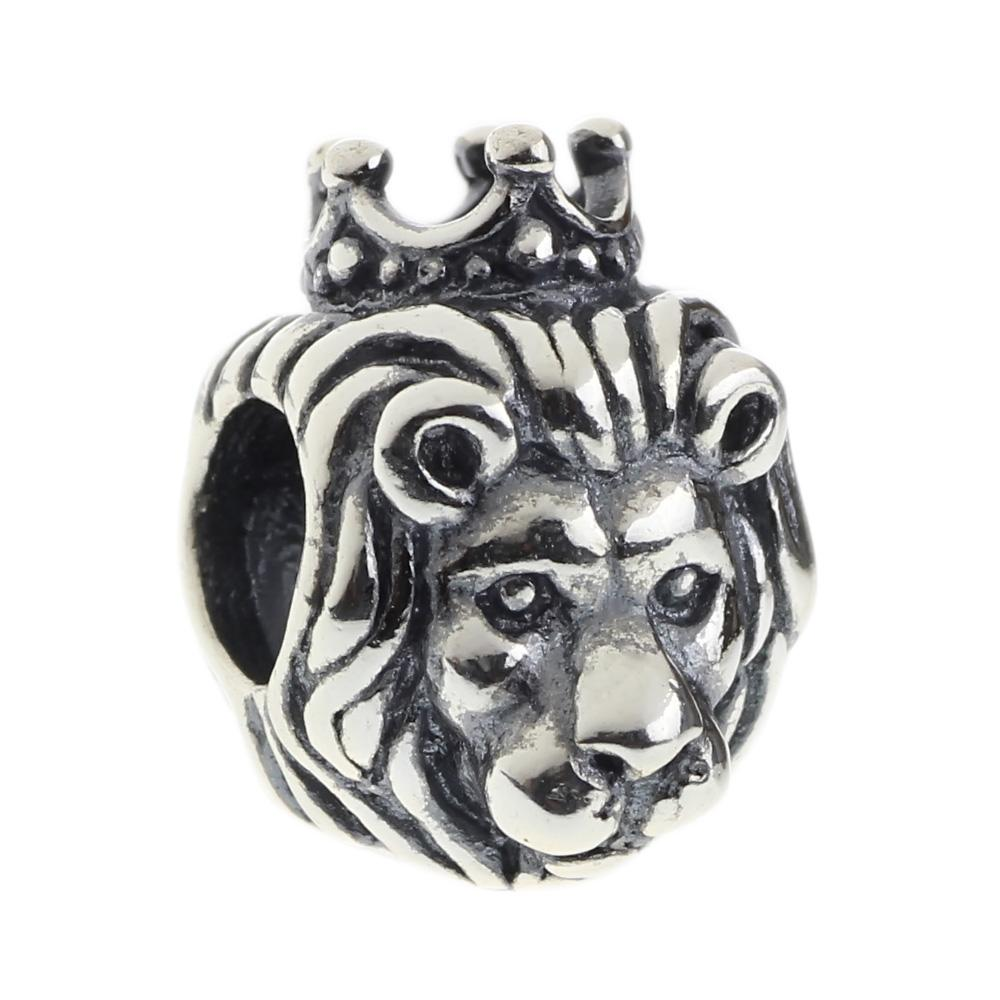 636cfd824 2019 Beads Hunter Jewelry Authentic 925 Sterling Silver King Lion Charm  Fashion Jewel Big Hole Bead For 3mm European Bracelet Snake Chain From  Lekatrade, ...