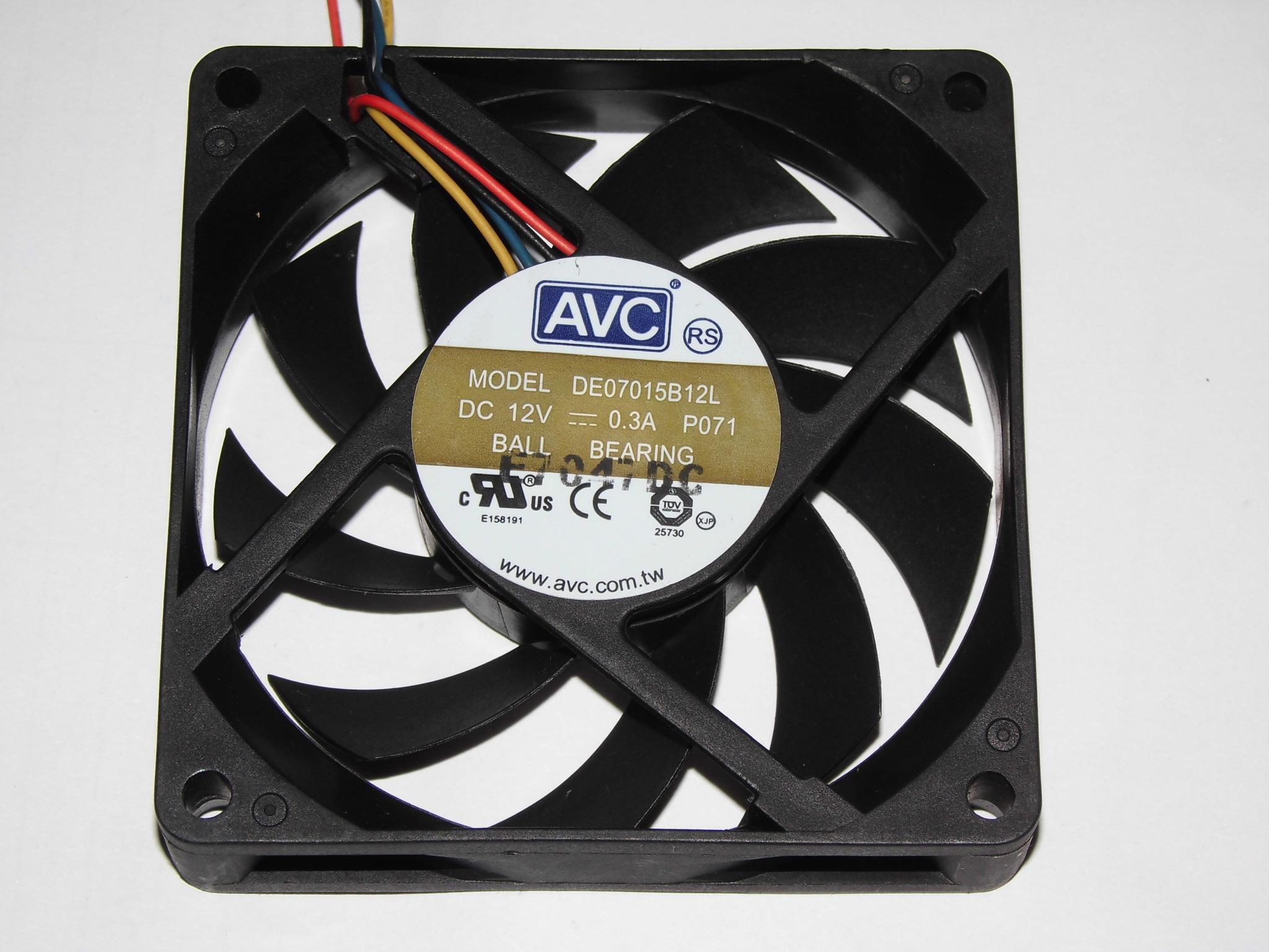 AVC 7015 DE07015B12L 12 V 0.3A 4wire Rulman cpu soğutma fanı