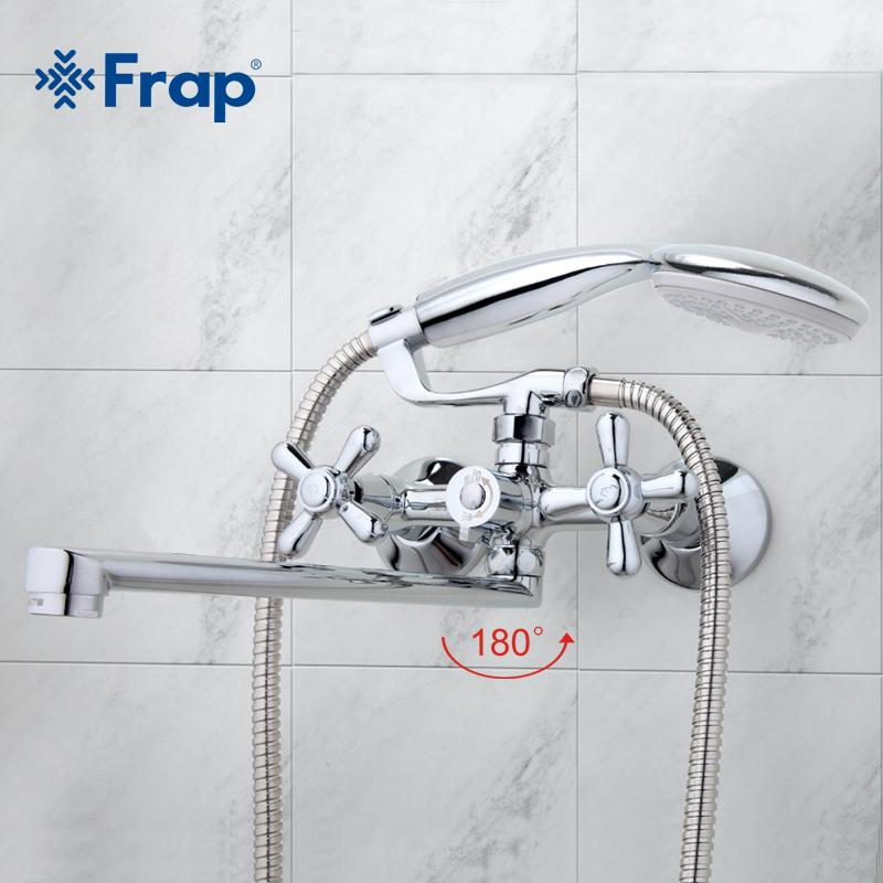 Best Quality Frap Traditional Bathroom Faucets 300mm Long Water Outlet Tube  Move 90 Degrees Left And Right F2225 F2224 At Cheap Price, Online Bathroom  Sink ...