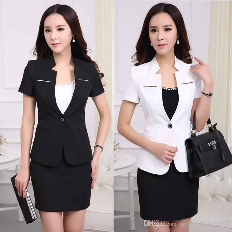 2017 Women Formal Suit Lady Office Work Suits With Summer Office ...