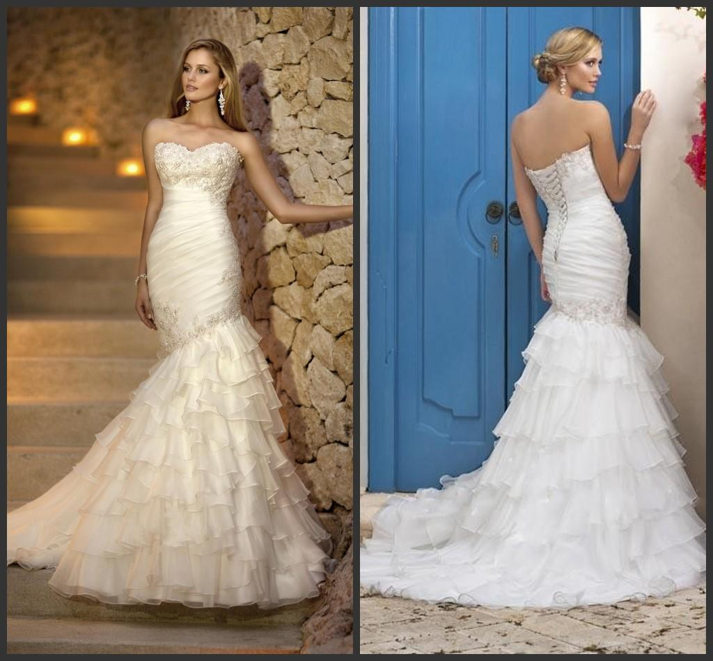 Newest Mermaid Style Wedding Dress With Sweetheart Neckline ...
