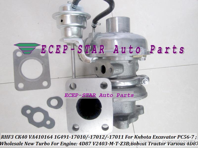RHF3 CK40 VA410164 1G491-17011 1G491-17012 1G491-17010 Turbo Turbocharger For Kubota Excavator PC56-7 For bobcat Tractor 4D87 V2403-M-T-Z3B