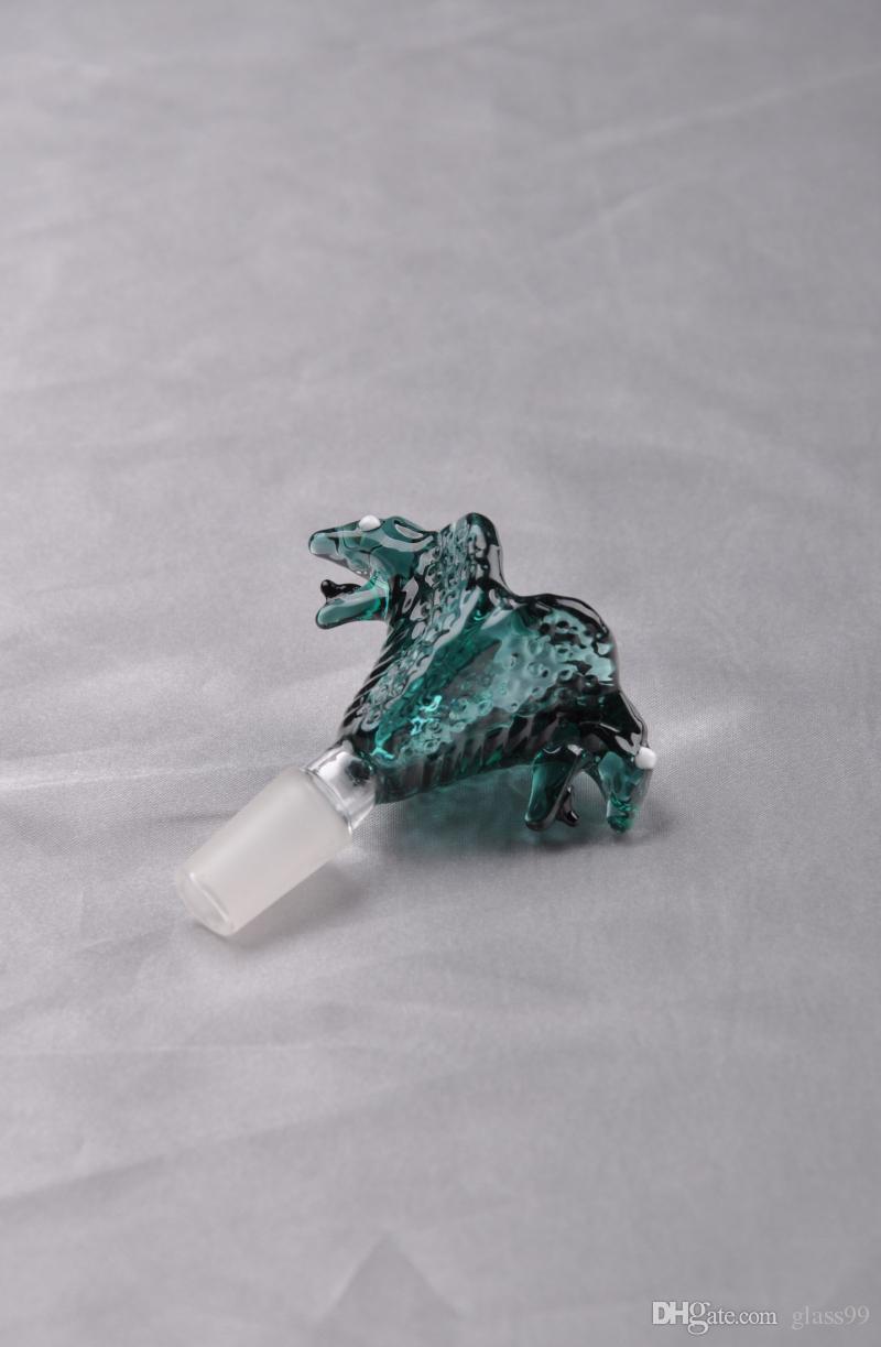 Smoking Bowl Holder dry herb holder for glass bong glass rig Mixed Colors Slide Snake Shape Black/Green Dogo