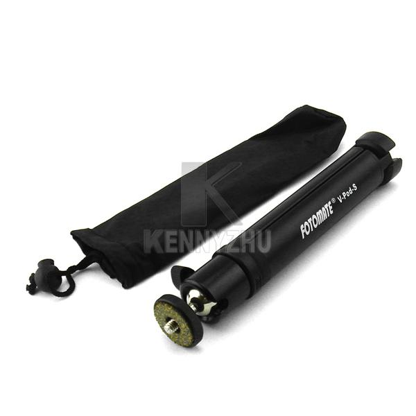 New Mini Ballhead Tripod For Digital Cameras FOTOMATE V-POD-S Adjustable Height Black With Portable Bag