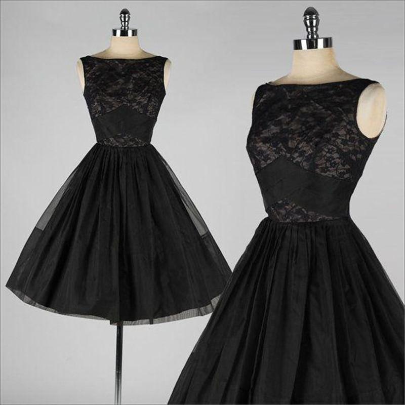 Vintage Lace Gothic Plus Size Evening Dress With Cloak A: Black Short Vintage Lace Prom Dresses 2016 A Line Bateau
