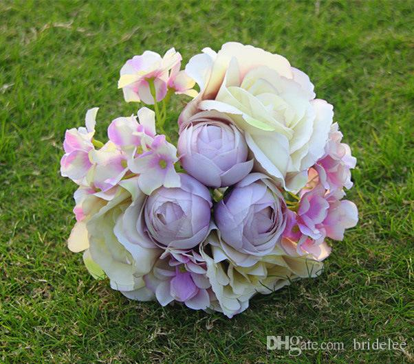 2020 New Arrival High Level Wedding Bridal Bouquet Freshing Style with Mix Artificial Peony Flower
