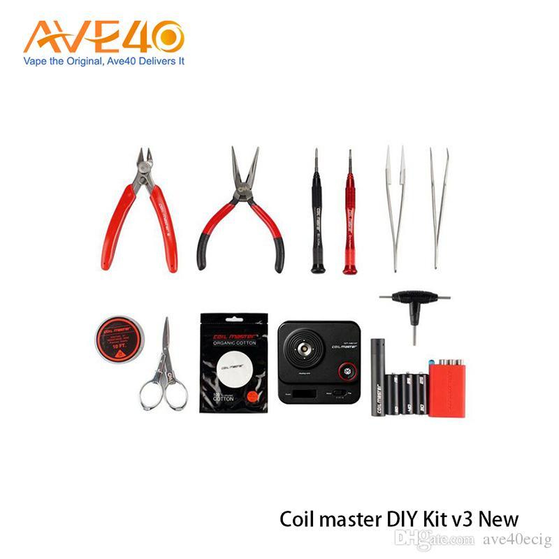 Orijinal Bobin Master DIY KITI V3 Yeni Bobin Master Tool Kit 2.0 RDA RBA Atomizer Için Yeniden Vape Mod