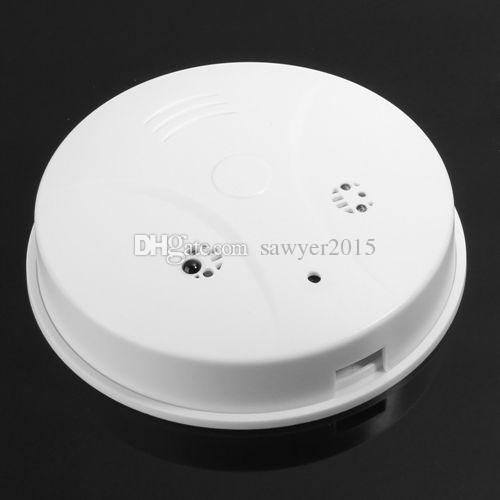 Professional Smoke Detector Pinhole camera DVR with Remote control Motion Detection 720*480 30fps 2.0MP mini camcorder video recorder white