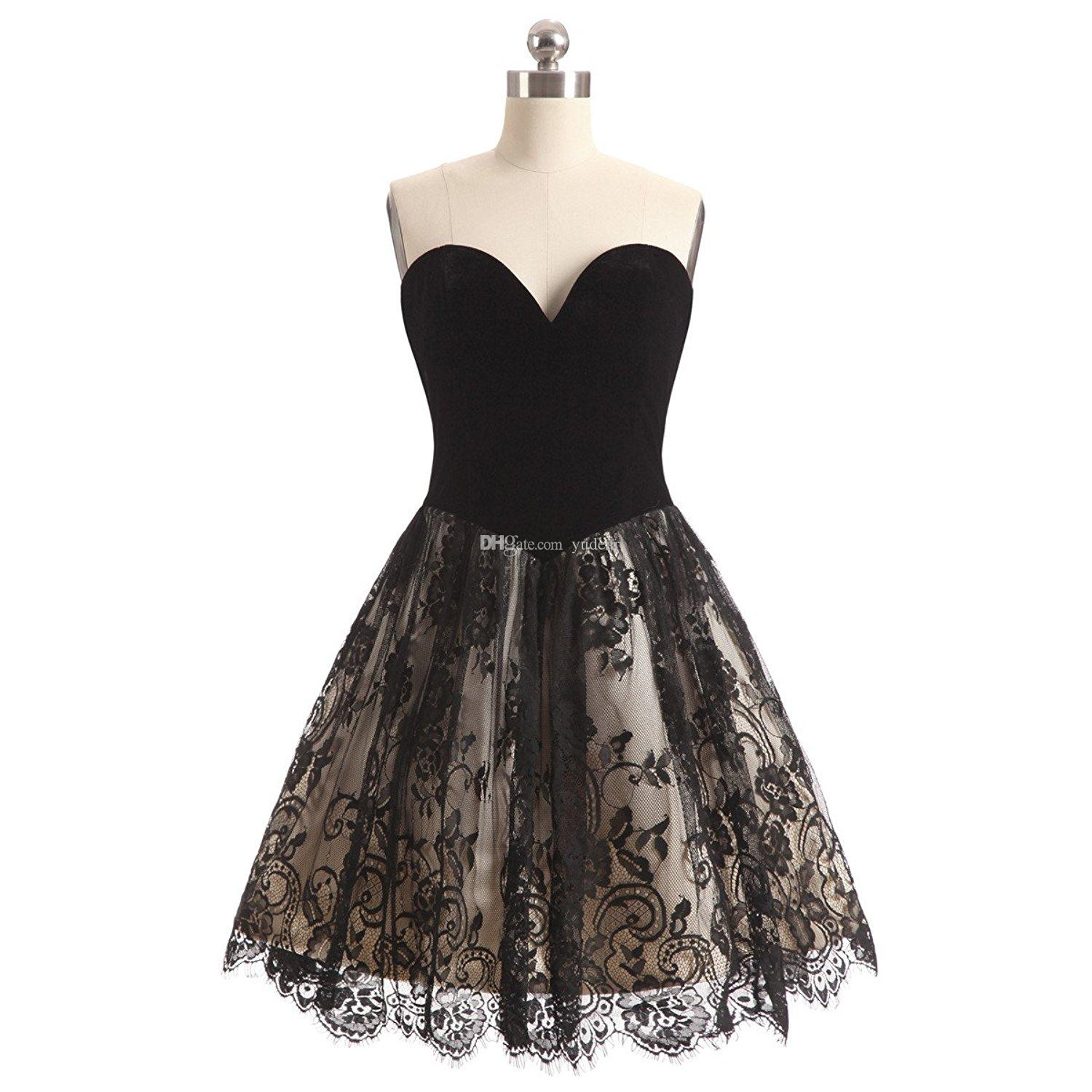 Charming Lace 2019 Sweetheart Women Homecoming Dresses Short Prom Party Gowns Cheap Tiered Skirt A Line Princess Prom Gown For Juniors Ball