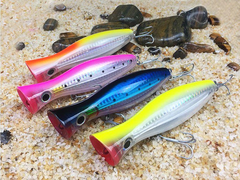 Frete grátis Big Fishing Lure Popper Saltwater Lure Handmade anzol isca de pesca Bionic Iscas Iscas à venda