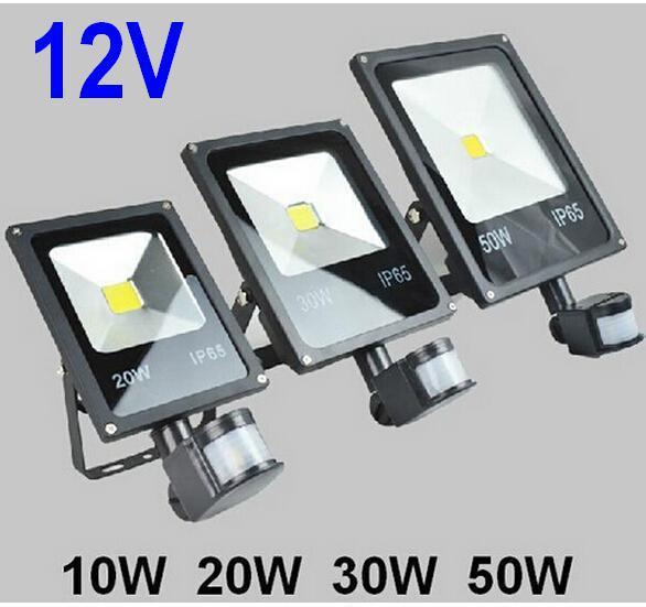 Charming 12v 10w 20w 30w 50w Pir Led Floodlight Outdoor Led Flood Light Lamp With  Motion Detective Sensor Landscape Spot Landscape Flood Lights Motion  Activated ...