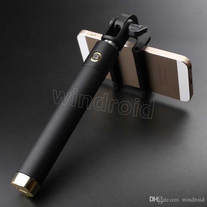 Monopod Extendable Selfie Stick with Bluetooth Bastone Pau De Palo Selfie Stick to Self for iPhone 6 5 Samsung Android Universal Free DHL 30