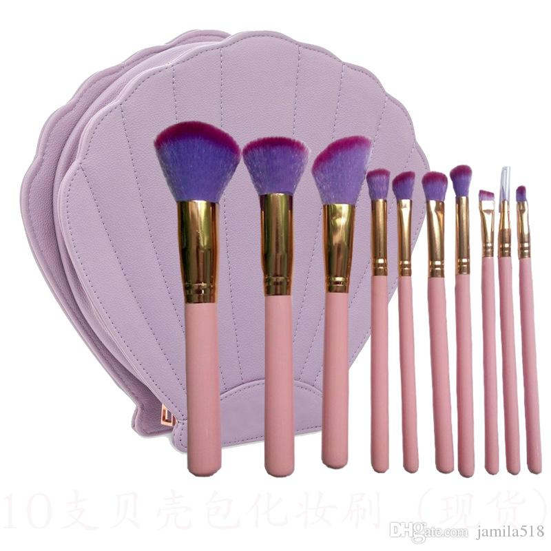 2018 New Shell Makeup Brushes Best Selling Products Hello Kitty Makeup Brush Set Air Oval Make Up Brush Holder Unicorn Beauty Product Makeup Foundation Best ...
