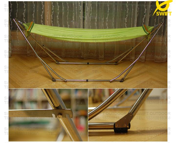 2018 100% Nylon Net With Stainless Steel Easy Up Folding Hammock Frame  Hammock Stand Nylon Hammock From Xunjietent, $185.13 | Dhgate.Com