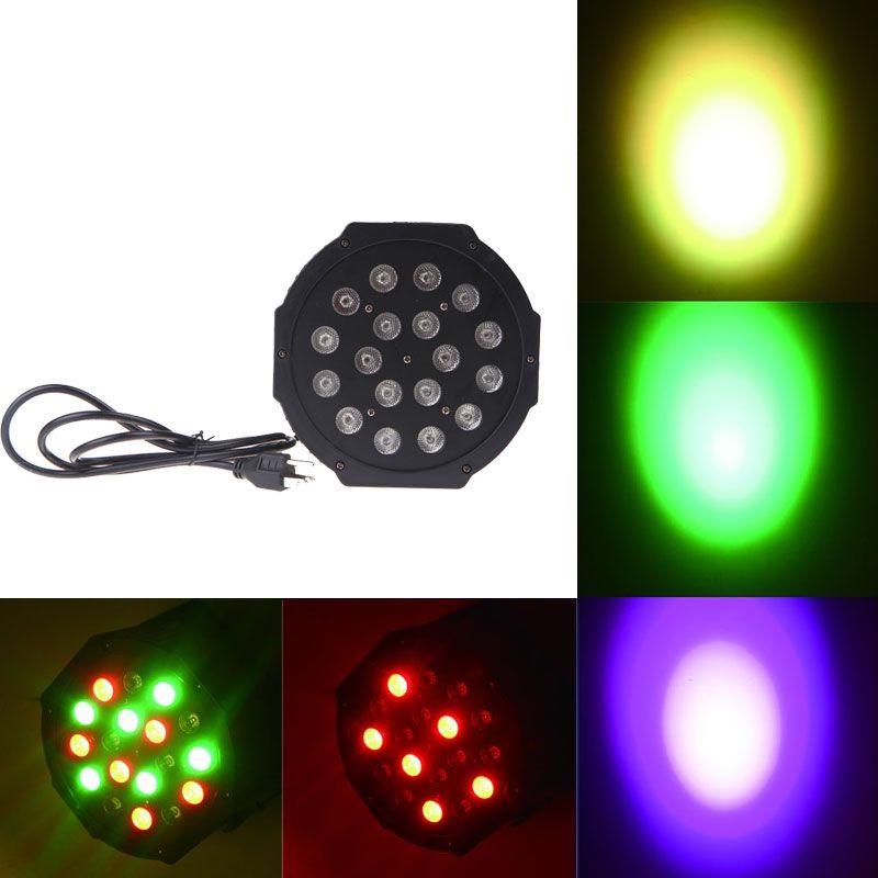 DHL llevó la luz de la etapa 18x3W 54W 6 canal RGB llevó la iluminación plana del par para el club DJ Stage Party KTV Disco DMX 512 Control