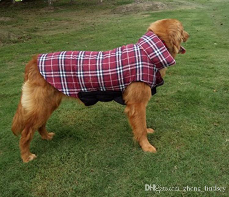Moda Ekose Kış Köpek Mont Pet Köpekler Için Küçük Köpek Chihuahua Açık Su Geçirmez Büyük Köpek Ceket