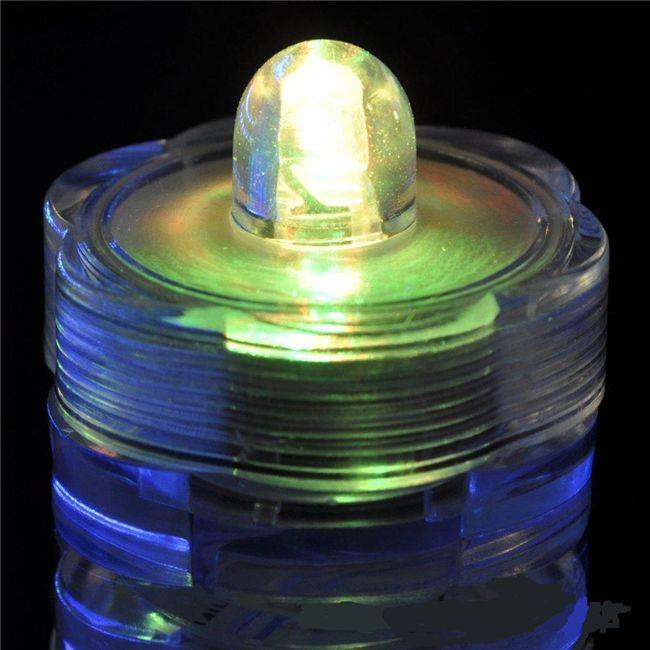 Погружной свет свечи 10шт Погружной свет водонепроницаемый свадебный подводный аккумулятор Sub LED Чайные огни декоративные светодиодные свечи