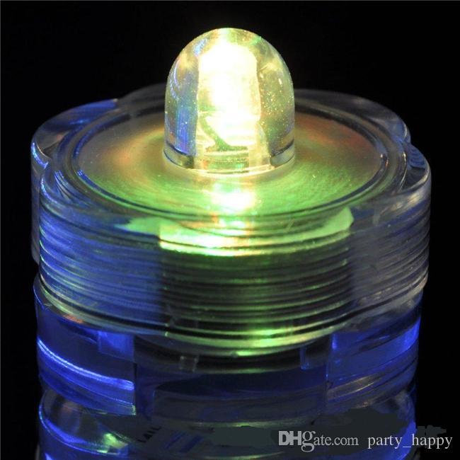 Submersível Luz Luzes De Vela Luz Submersível Subaquática Bateria Subaquática Do Casamento Subaquático LEVOU Luzes Do Chá LEVOU luz de velas decorativas