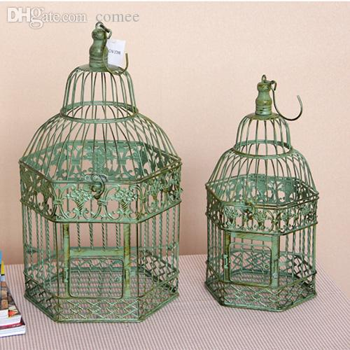 2018 Wholesale Birdcage Vintage Iron Antique White Home Decorative Wedding  Card Holder Bird Cage Decoration , Cage For Decor Bird Cage Wedding From  Comee, ...