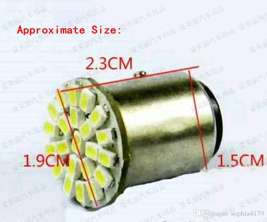 الجملة 500 قطع 1156 1157 22 الصمام 1206 22smd بدوره إشارة عكس الضوء لمبات احتياطية مصباح خلفي