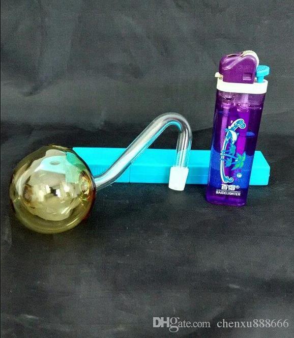 Цветная горелка, цветная случайная доставка, оптовые стеклянные аксессуары для кальяна, стеклянные бонги, бесплатная доставка, большая лучше