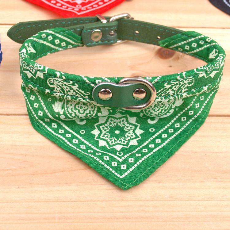 Hundekragen Blei Einstellbar Haustier Hund Katze Schal Bandana Halsband Halstuch Marke Neue Mischung Farben Hundehalsbänder