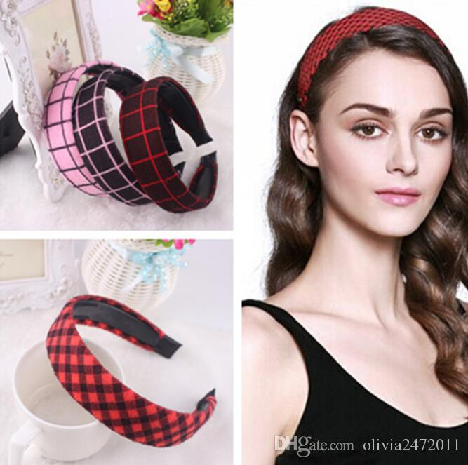 hair band styles for hair 2018 new korean style lattice wide hair bands 1825