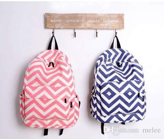 4 farben streifen chevron schule rucksack bookbag 16