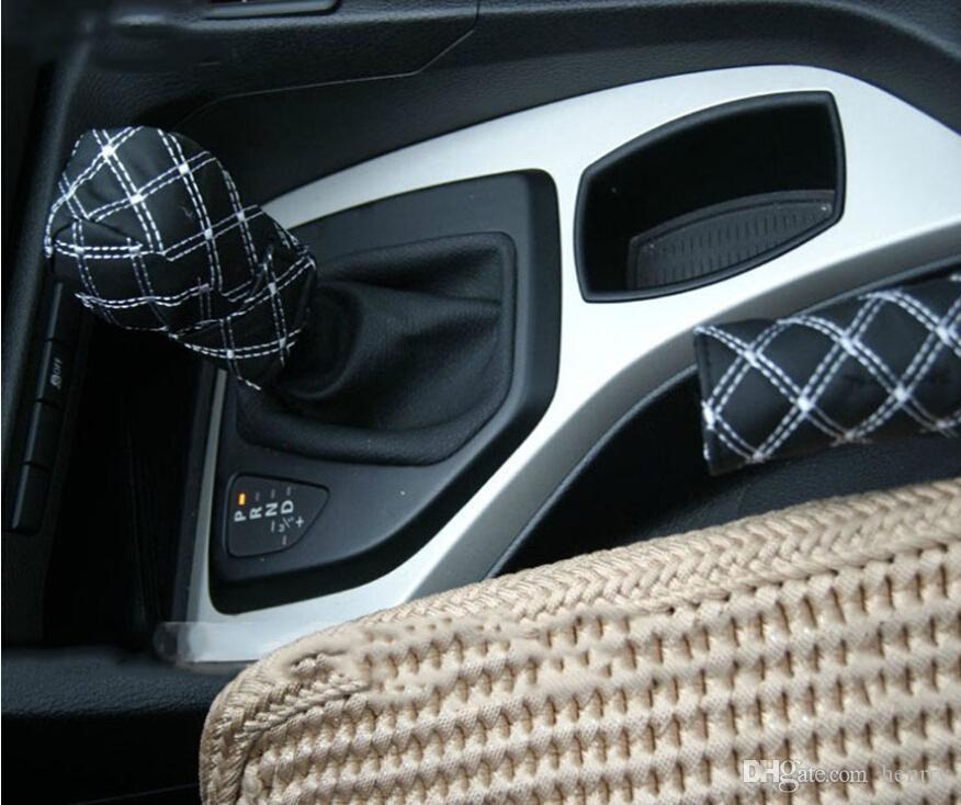 ワインレッドツーピースギアセットハンドブレーキスリーブワイン2手動自動トランスミッションセット車ハンドブレーキセットギアセット32-2a