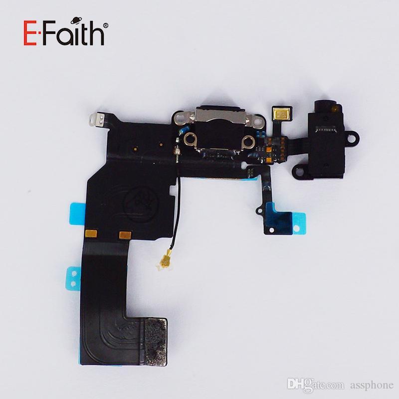 Porta di ricarica di qualità superiore con cavo Flex sensore iphone 5 la riparazione del telefono con spedizione gratuita