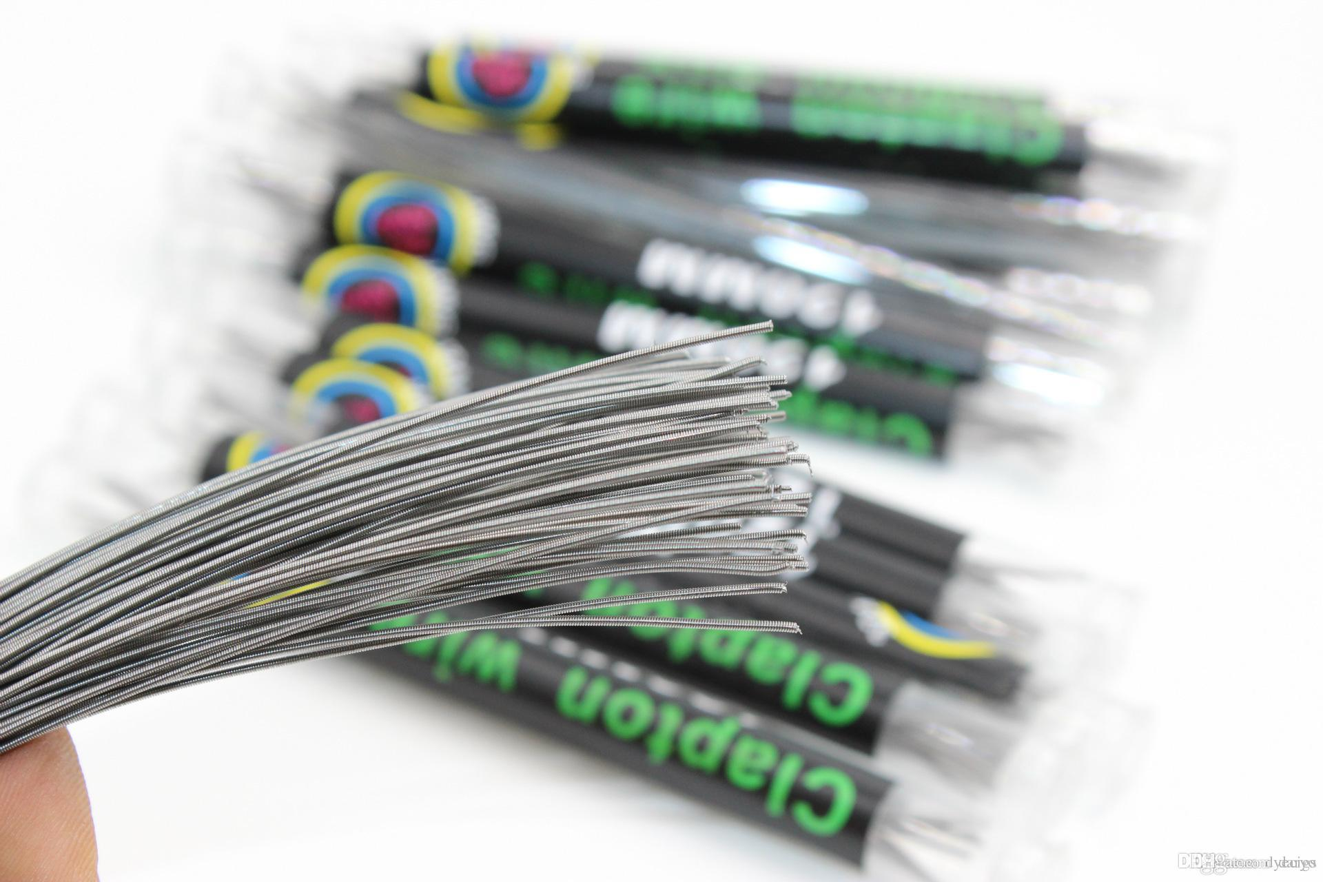 50 Tubes Clapton Coils Wire 120mm 26*32g Resistance Wire Clapton ...
