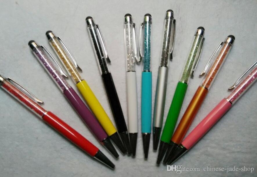 Stylet stylo ballon de 5,7 pouces diamant cristal 2 en 1 Strass à écran tactile Écriture capacitive pour la tablette de téléphone mobile PC /