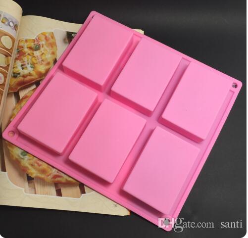 8 * 5,5 * 2,5 cm Quadrat Silikon Backform Kuchenform Formen Handgemachte Biskuitform Seife form