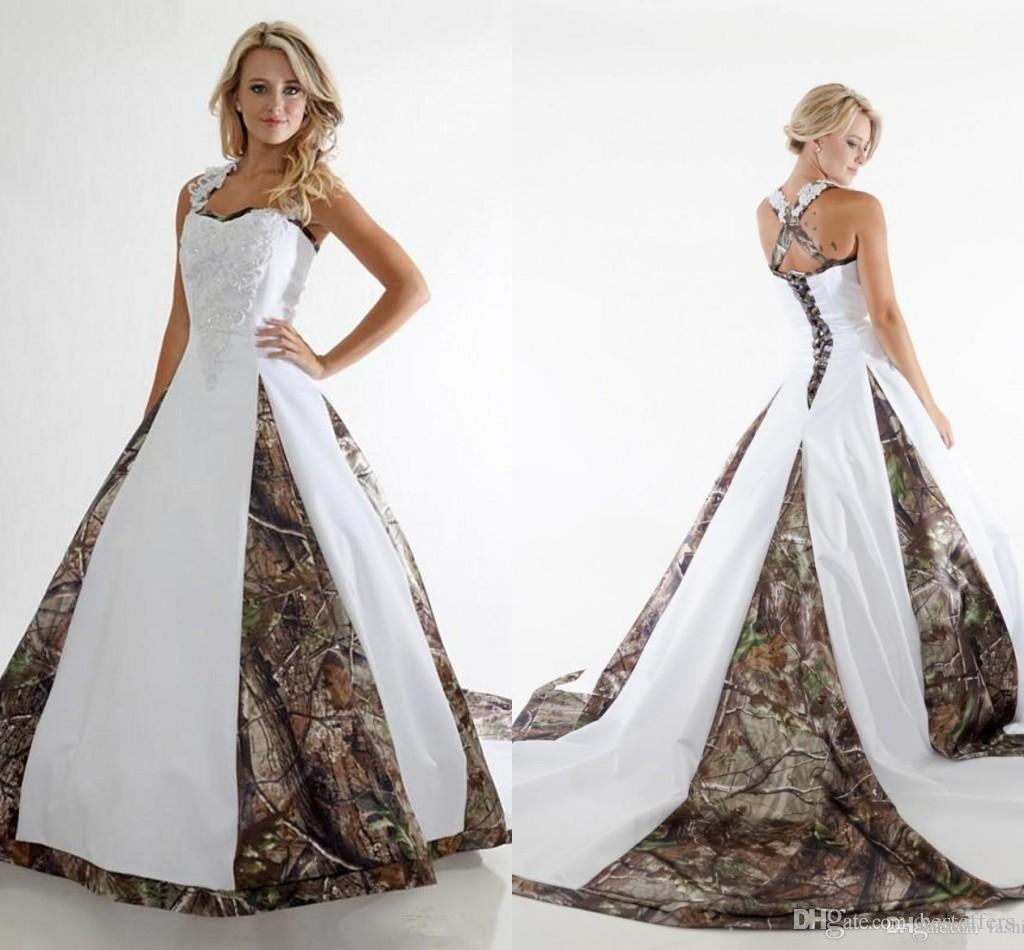Realtree Camo Wedding Gown with Detachable Train | Realtree Formal ...