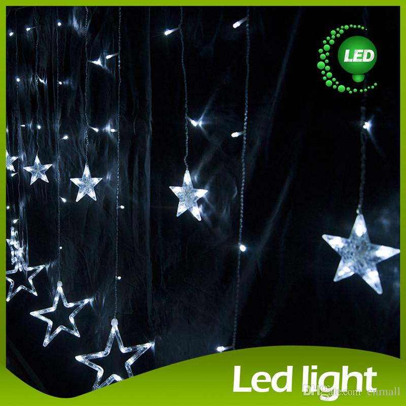 Star String 2x1m LED String Christmas String Light Wedding Fairy Curtain Light Background Decoration 138 LED 12Stars 110V/220V EU/US/UK/AU