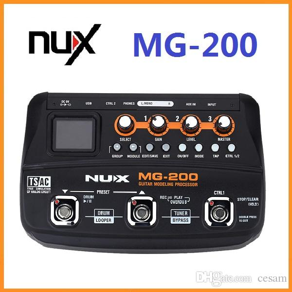 2019 brand new nux mg 200 professional guitar processor multi effects with 55 effect models. Black Bedroom Furniture Sets. Home Design Ideas
