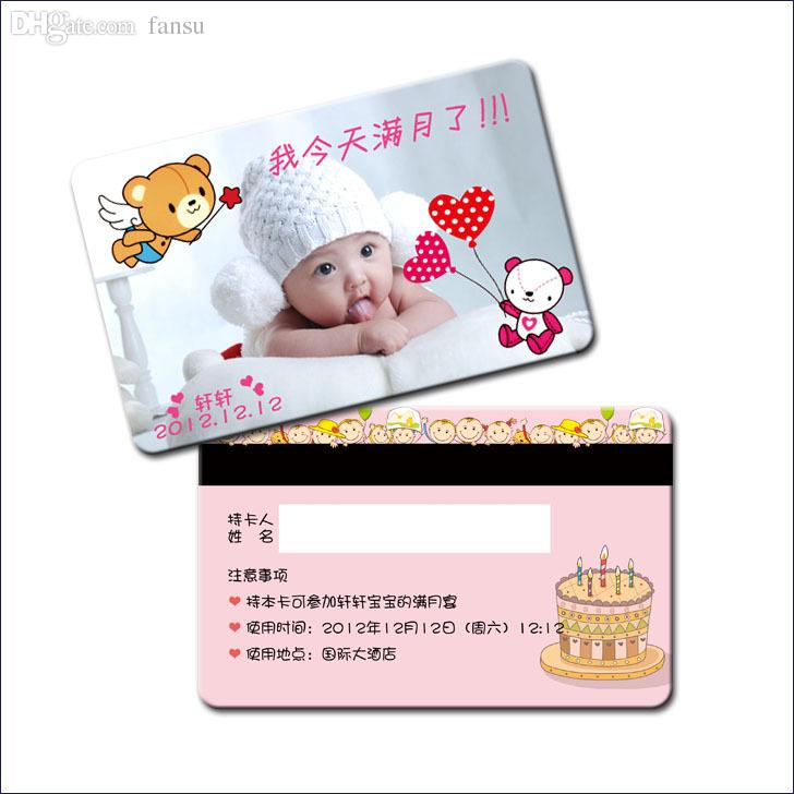 2018 Wholesale New Baby Invitation Card Full Month Invitation Cards ...
