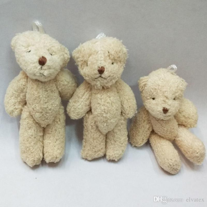 Bulk 8CM Pearl Cotton Plush Mini Teddy Bear Ursinho De Pelucia Jewellery Accessory Gift Key chain Pendants