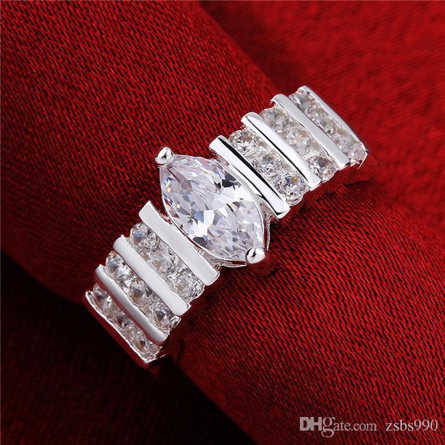2015 new design 925 sterling swiss CZ Diamond Wedding / Engagement Ring Fashion Jewelry