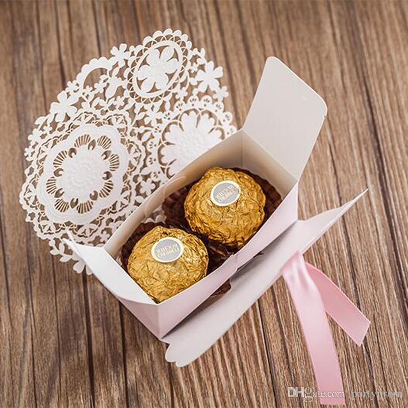 Romantic Wedding Decoration Gift Bag Flower Elegant Luxury Laser Cut Party Event Supplies Sweet Favors Paper Candy Box For Guest