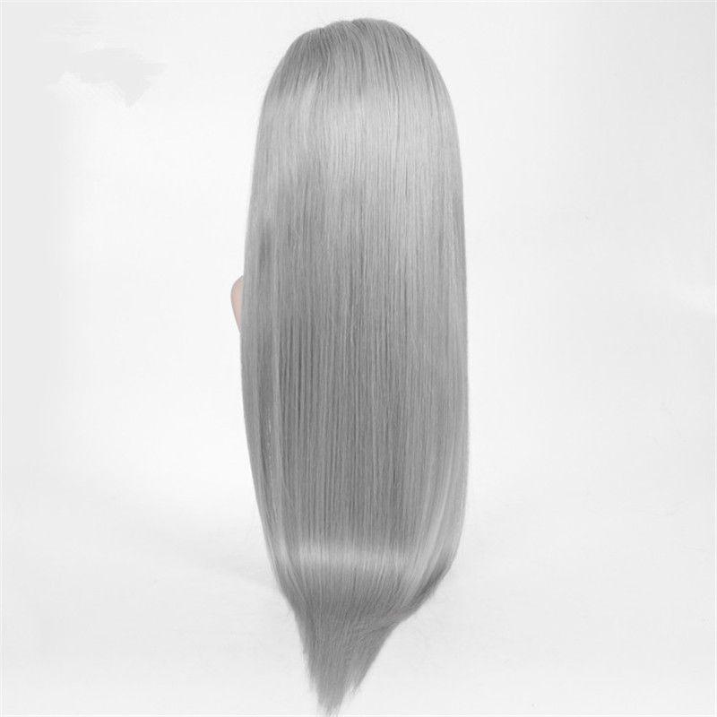 100% Echthaar Perücke Grau Volle Spitze Perücken Seide Gerade Vordere Spitze Echthaar Perücke Brasilianische Reine Haar Grau Perücke Für Schwarze Frauen